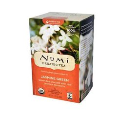 Organic Tea Celebrating People, Planet and Pure Tea Real Ingredients 100% Nothing Else Green Tea Scented with Real Jasmine Blossoms USDA Organic Non-GMO Biodegradable Tea Bags Fair Trade Certified Tea
