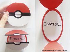 pokemon, diy, and ideas Bild Pokemon Gifts, Pokemon Craft, Pokemon Party, Pokemon Go, Valentine Day Cards, Valentine Gifts, Homemade Valentines, Pokemon Valentine Cards, Printable Valentine