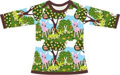 Babykleid mit einem Kreuzausschnitt, so dass es leicht über den Kopf zu ziehen ist. Größe 56 bis 74. Materialien: * Jersey Zn...