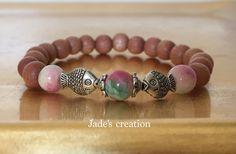 Lucky Charm Yoga Bracelet Rosewood Wrist Mala by BeautifulShades