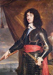 Portrait du roi en exil Charles II par Philippe de Champaigne (vers 1653).