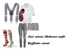 """""""Gryffindor"""" by hatmosyog on Polyvore featuring Abercrombie & Fitch, Elope, H&M and Drifter"""