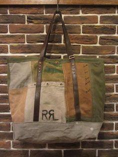 J. Augur patchwork vintage canvas tote for RRL. c. 2012