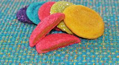 Rainbow Peanut Butter Sugar Cookies (perfect for parties and serving to grandchildren) #recipe