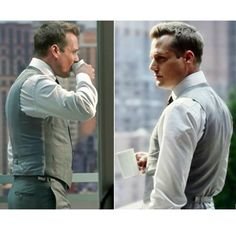 Suits S4E01 - One Two Three, Go!  Gabriel Macht as Harvey Specter, In his place. #MorningMeeting outside of the office. #SuitsGlossary #GoodOne