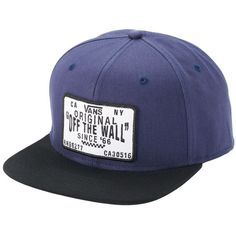 14bf87bc64e655 Men s Vans Original Patch Snapback Cap ( 24) ❤ liked on Polyvore featuring  men s fashion