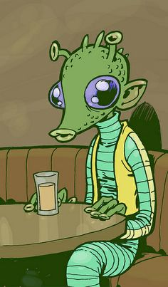 Greedo in situ | Illustrator: Philip Bond