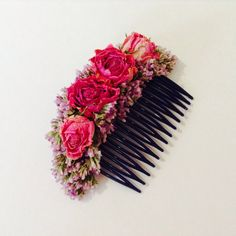 Your place to buy and sell all things handmade British Flowers, Spray Roses, Lilac, Pink, Brides And Bridesmaids, Hair Comb, Dried Flowers, Special Day, Delicate