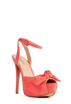 I love all things girly....and the bow just does it for me! This is a beautiful coral color! This is the best ever! #‎justfabonline‬