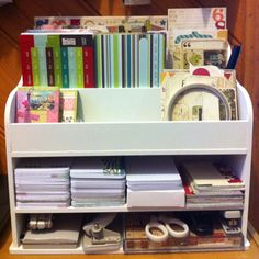 """""""Project Life"""" album 2012 """"Station"""" using a kaiser large desk storage box , minus the drawers..."""