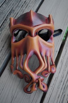 Nerd out on Fat Tuesday with this Cthulhu Mardi Gras mask.