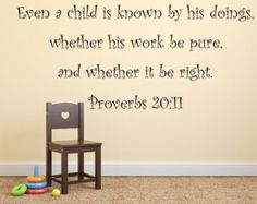 Check out Proverbs Bible Verse Wall Decal, Christian Bible Verse - Scripture Verse Wall Decor KJV Wall Art KJV Scripture Decal on inspirationwallsigns Scripture Verses, Bible Quotes, Scriptures, Proverbs 20, Inspirational Wall Decals, Vinyl Wall Decals, Wall Stickers, Wall Signs, Wall Decor