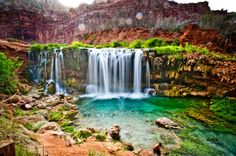 Most beautiful places in the world: Havasu Waterfalls. Description from travelingmyself.com. I searched for this on bing.com/images