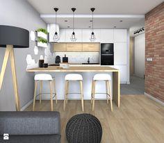 Niskobudżetowe mieszkanie w Krakowie 57m2 - zdjęcie od STUDIO PNIAK architekt wnętrz Klaudia Pniak