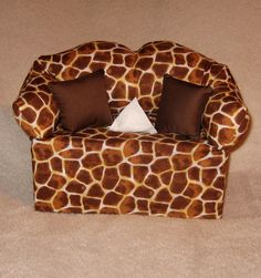 Giraffe Print Sofa Tissue Box Cover  FREE SHIPPING in by DBAYOU18