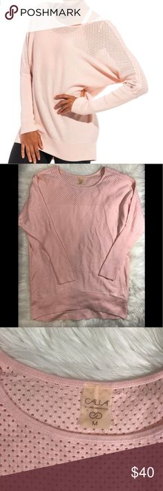 """Calia by Carrie Underwood Dolman Sweater Calia by Carrie Underwood Mixed stitch Dolman sweater. Cashmere blend. Color is a light pink. Approx measurements are 22"""" pit to pit and 30"""" back length. EUC. CALIA by Carrie Underwood Sweaters"""