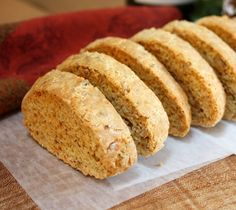 Savory Cheddar Walnut Biscotti No butter Italian Cookie Recipes, Sicilian Recipes, Italian Cookies, Italian Desserts, Sicilian Food, Italian Foods, Savoury Biscuits, Savory Pastry, Biscotti Cookies