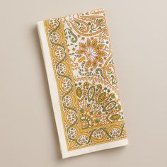 Yellow Dhaya Napkins, Set of 4...these would be great to make throw pillows out of too