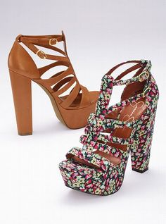 both are cute but not sure how much you could wear with the floral print ones..the tan ones on the other hand would go with almost anything