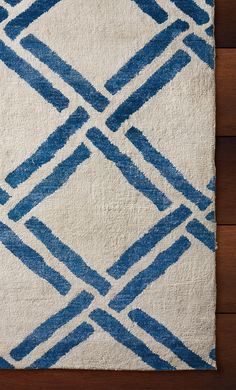 Simple and elegant, the Basari Rug is inspired by old-world Moroccan style, and woven with a traditional trellis motif.