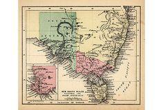 New South Wales Map, 1857 on OneKingsLane.com