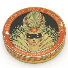 Small Art Deco Piquante Face Powder Tin Colgate Company N.Y.