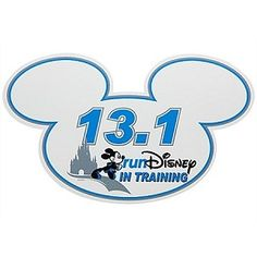 Disney Magnet- In Training RunDisney 13.1 Mickey Mouse Magnet