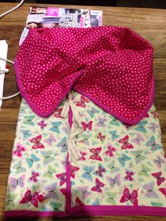 Pink butterfly quilted baby wrap