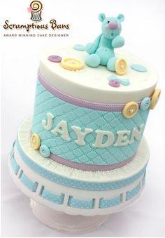 Teal Bear Cake - Cake Decorating on Craftsy