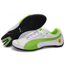 bf0c3f89a19d13 Puma Future Cat GT Ferrari Women White Green New Jordans Shoes
