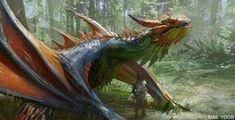 ArtStation - Forest dragon , Daeyoon Huh