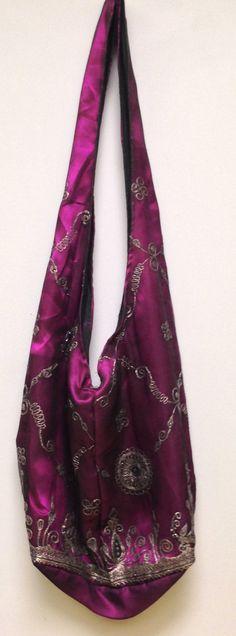 India Sequined Sari Shoulder Bag by WorldofBacara on Etsy $25.00