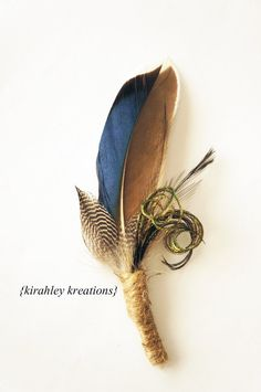 Blue Mallard Duck Feather Groom Groomsmen Boutonniere with Guinea Emu Herl Burla… Blue Mallard Duck Feather Groom Groomsmens Boutonniere wedding apparel Lapel Pin Buttonhole Souvenir Feather Boutonniere, Feather Bouquet, Rustic Boutonniere, Groomsmen Boutonniere, Groom And Groomsmen, Wedding Groom, Wedding Men, Rustic Wedding, Rustic Groom
