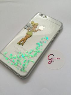 Tinkerbell peter pan iPhone 6 6 5s 5c 5 4s 4 by GracesGlitterCases