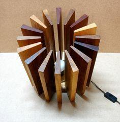 Lamp made from wooden waste | Recyclart