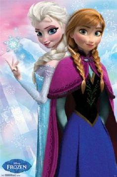 Amazon.com - Frozen - Anna & Snow Queen Elsa Movie Poster