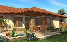 Village House Design, House Front Design, Bungalow Exterior, Exterior House Colors, Exterior Homes, Mediterranean Homes Exterior, Tuscan Homes, Mediterranean Decor, Beautiful House Plans