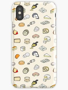 Cheese pattern iPhone case #cheese #fromage #motif #france #french #français #cute #iphonecase #samsungcase #iphonexr #food #foodporn Coque Iphone, Iphone 7, Graphic, Iphone Case Covers, Bright Colors, Cheese, Wraps, Prints, Slim