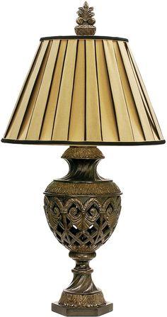"0-027403>33""""h French Pierce 1-Light Table Lamp"
