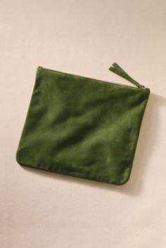 I love these clutches.  Pomegranate color please! Women's State Street Suede Zip Clutch from Lands' End Canvas