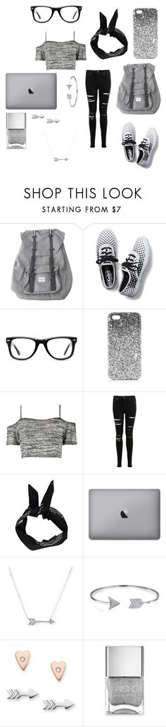 """""""back 2 school"""" by kregi800 ❤ liked on Polyvore featuring Herschel, Keds, Muse, Topshop, Boohoo, Miss Selfridge, Adina Reyter, Bling Jewelry, FOSSIL and Nails Inc."""