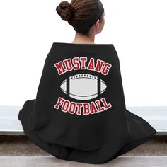 Football Stadium Blanket | Stay warm while watching your favorite team! Customize with your team's name and colors, even your team mascot!