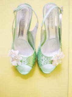 Washington DC Wedding Ceremony Green Bridal Shoes 275x374 Modern Meets Vintage Wedding Ceremony in Washington DC: Jessica + Ian