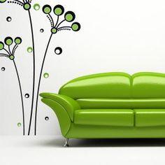 Vinilos Decorativos Flores Círculos Retro Mural Art, Wall Murals, Wall Art, Wall Design, House Design, Room Decor, Wall Decor, Panel Doors, Wall Colors