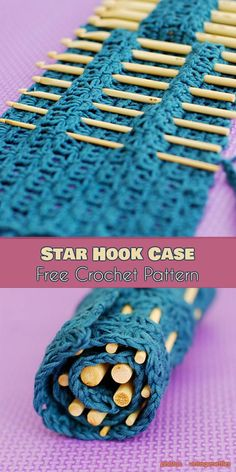 Hook Orgnizers Ideas and Free Patterns: Hook Holder Case, Star Hook Case, Crafter Granny Your Crochet #freecrochetpatterns #hookcase #crochetpattern