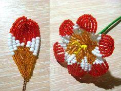 Деревья и цветы из Бисера's photos Seed Bead Flowers, French Beaded Flowers, Seed Beads, Beading Tutorials, Beading Patterns, Diy And Crafts, Arts And Crafts, Caribbean Culture, Beaded Crafts