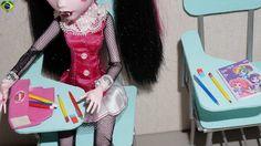 Como fazer lápis, caneta e borracha para boneca Monster High, Barbie, ML...