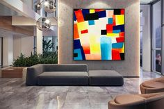 Large abstract painting on canvas Colorful painting abstract image 2 Abstract Images, Art Images, Office Wall Art, Office Decor, Bedroom Art, Bedroom Paintings, Contemporary Art, Modern Art, Modern Wall Decor