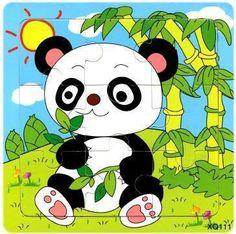 BOHS Wooden 9 Parts Educational Animals Vehicles Butterfly Beetles Tiger Bird Panda Giraffe Puzzle Toys