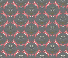 foxen coral small fabric by holli_zollinger on Spoonflower - custom fabric